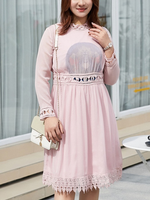 Miliani Pink Lace Layer Dress