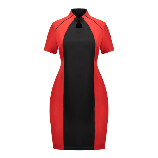Milena Colourblock Qipao Dress