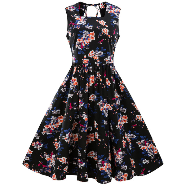 Milan Floral Sleeveless Dress
