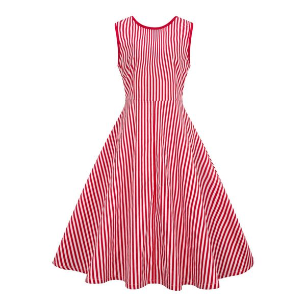 Milagro Red Stripe Dress