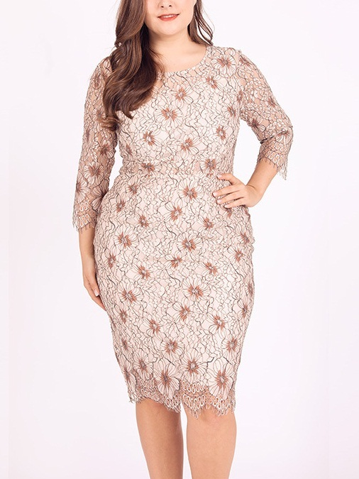 Mikelle Lace Dress (EXTRA BIG SIZE)