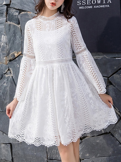 Milly Lace Bell Sleeve Dress