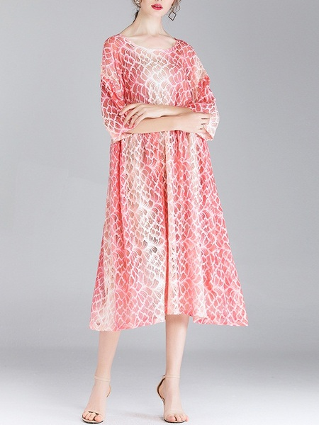 Minea Ombre Print Dress