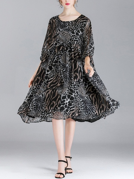 Minerva Leopard Dress