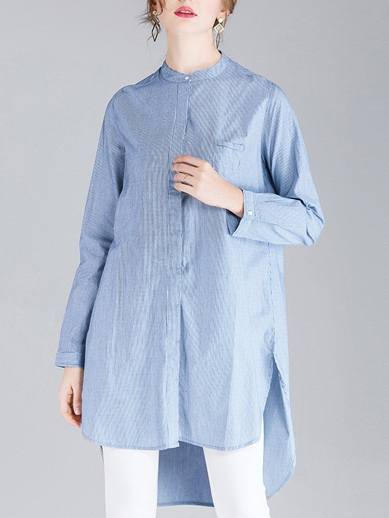 Minna Stripe Longer Back Shirt