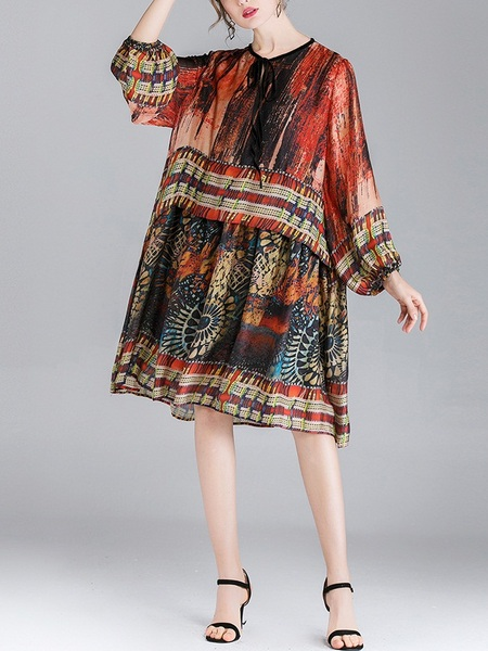 Print Kaleidoscope Dress