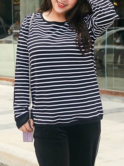 Mirra Miroslava Stripe L/s Tee Top (EXTRA BIG SIZE)