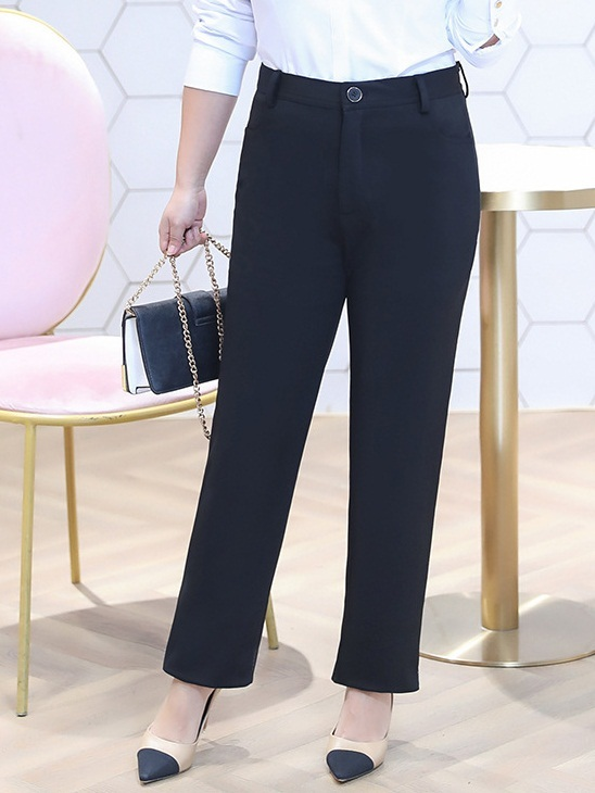 Mittie Straight Formal Office Work Pants (EXTRA BIG SIZE)