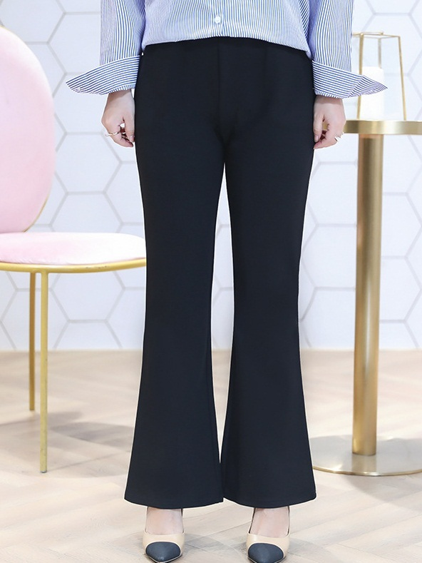 Miu Bell Leg Formal Smart Black Pants (EXTRA BIG SIZE)