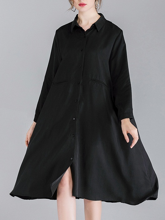 Minttu Mixed Tencil Shirt Dress