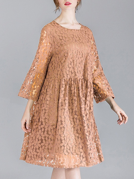 Miola Bow Back Lace Dress