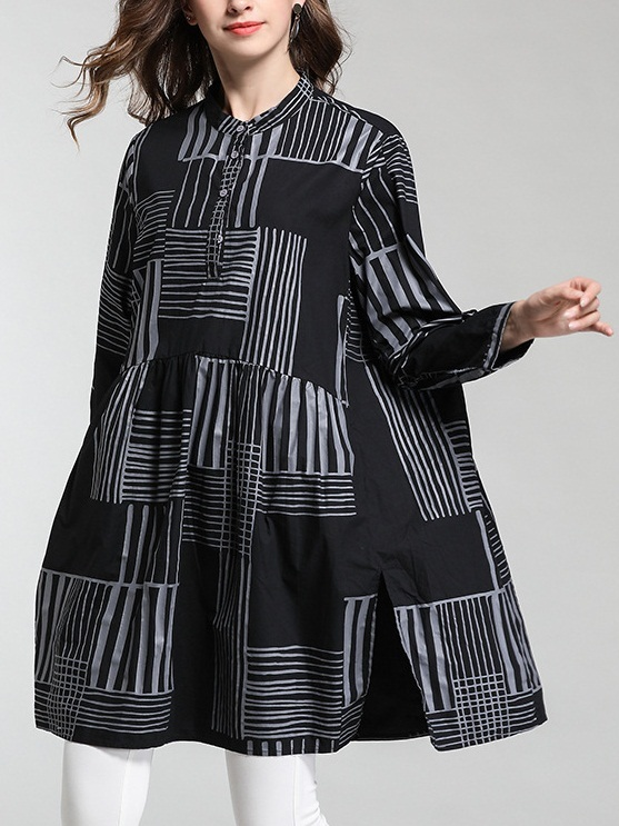 Mirele Geometric Shirt Blouse