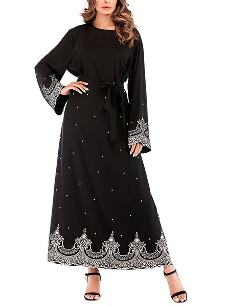 Morgaine Pearl Maxi Abaya Dress