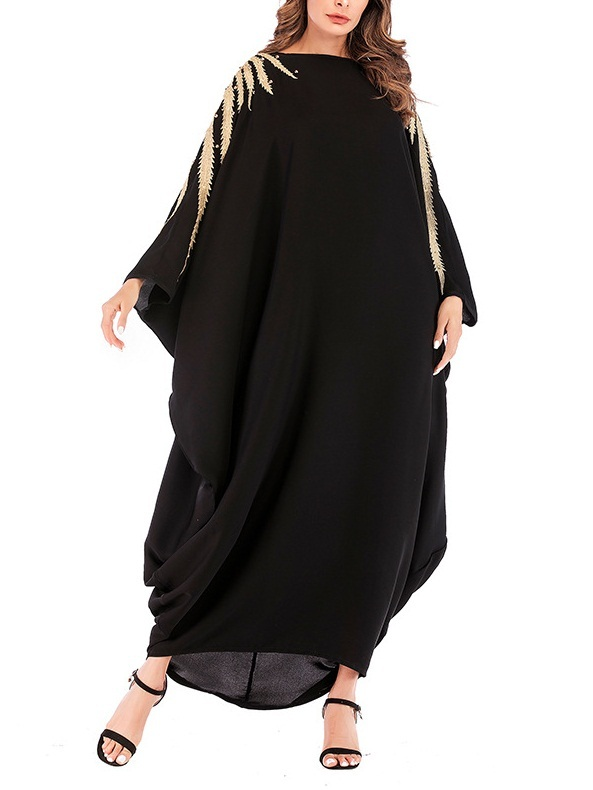 Moressa Golden Shine One-size-fits-all Batwing Maxi Dress