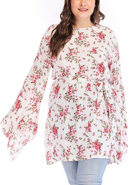 Morana Floral Flare Sleeve Dress / Blouse