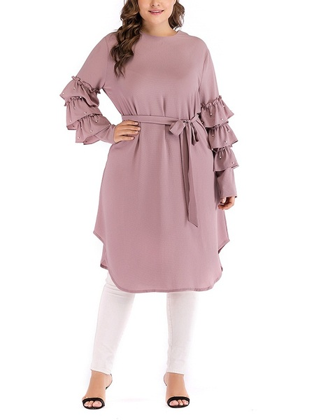 Monya Frill and Pearls Tunic Blouse