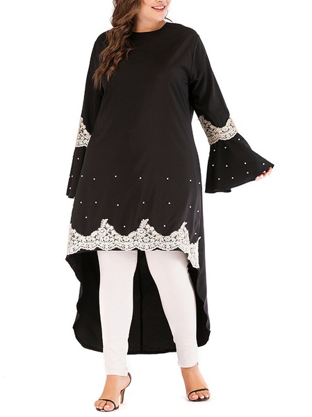 Montserrat Pearl and Lace Longer Back Blouse