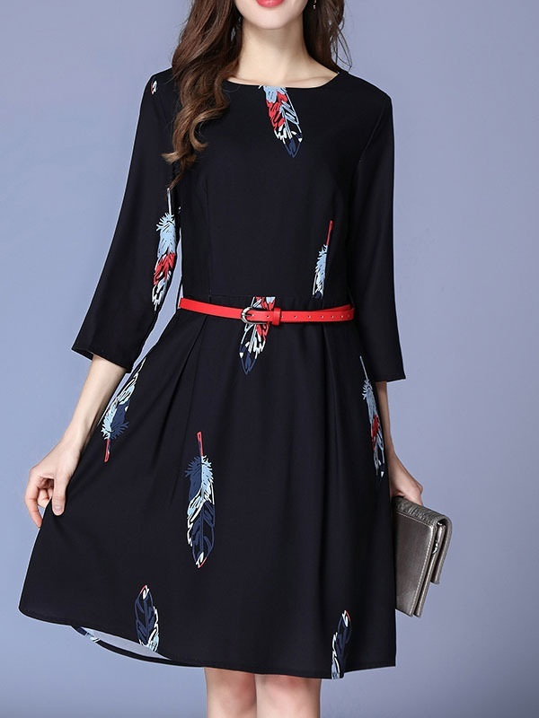 Mychelle Belted Dress