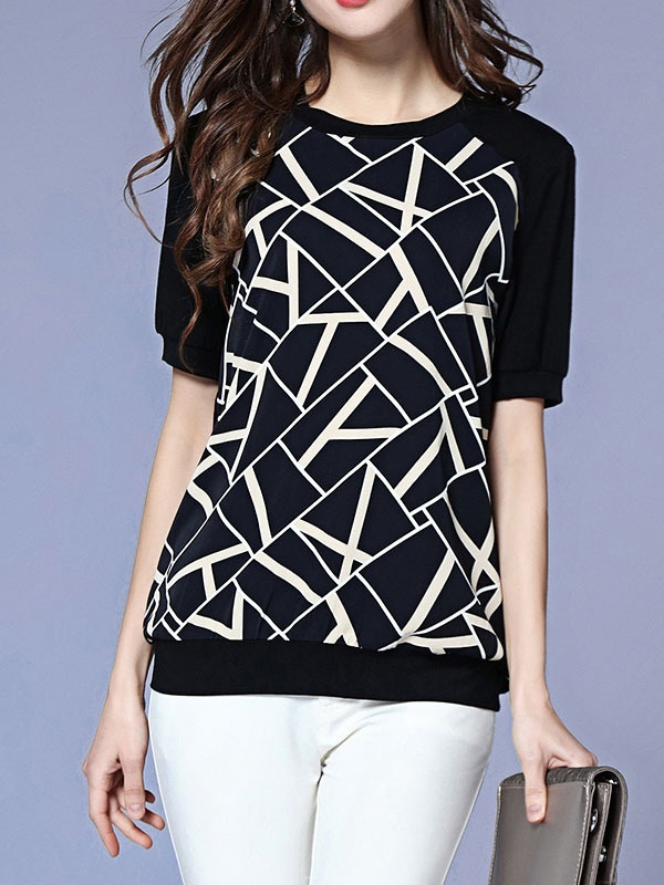 Mya Geometry S/S Top