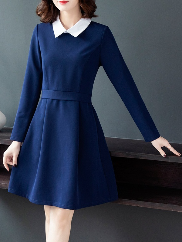 Naava Collar Swing Dress