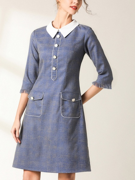 Nahia Button Pocket Shift Dress