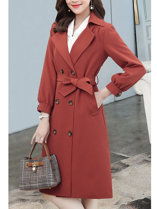Narges Double Breast Trench Coat