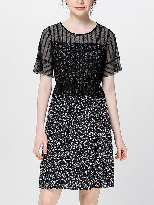 Nazaret Lace Layer Floral Dress