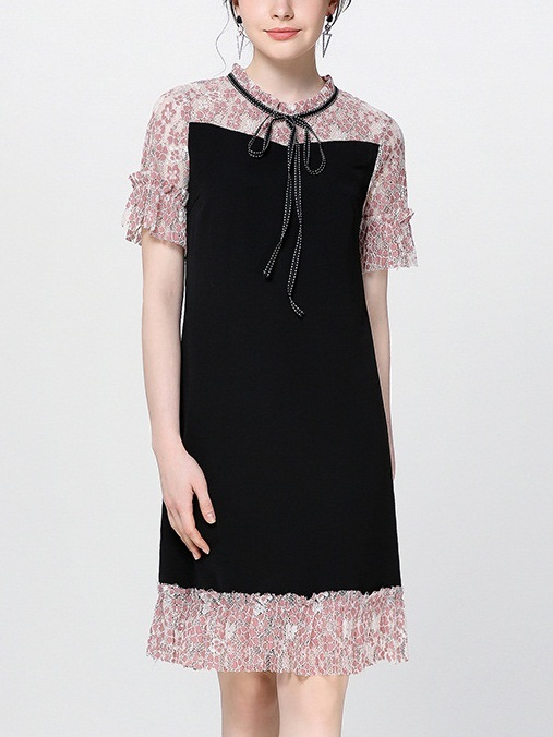 Nayeli Ribbon Lace Layer Dress