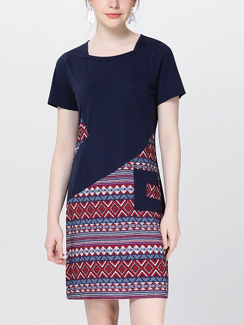 Nayara Mixed Pattern Dress