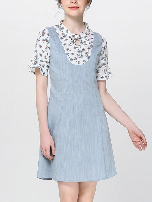 Nayana Buckle Collar Pinafore Dress