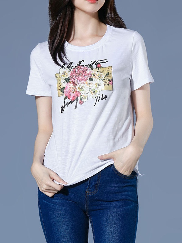 Navi Sequin Flowers Tee