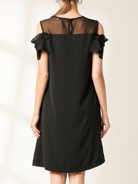 Neptune Pleats Off Shoulder Dress