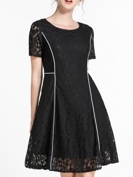 Nerea Lace Panel Swing Dress