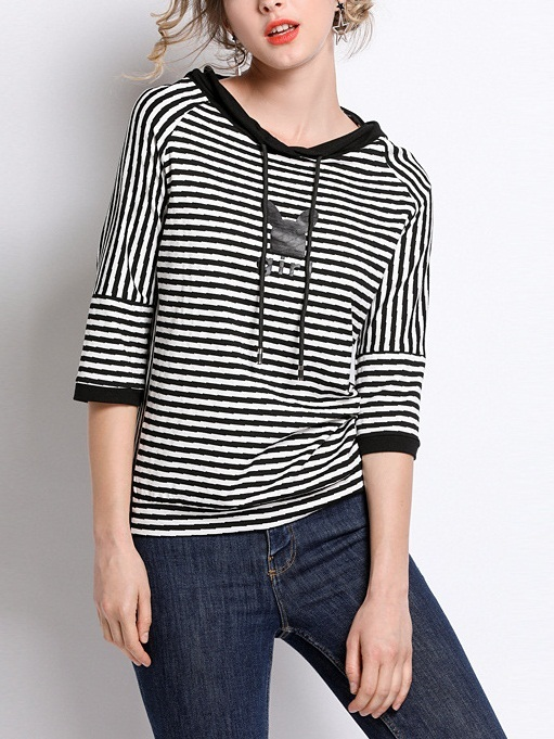 Neve Stripe Hoody Top