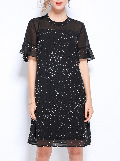 Nichelle Stars Chiffon Dress