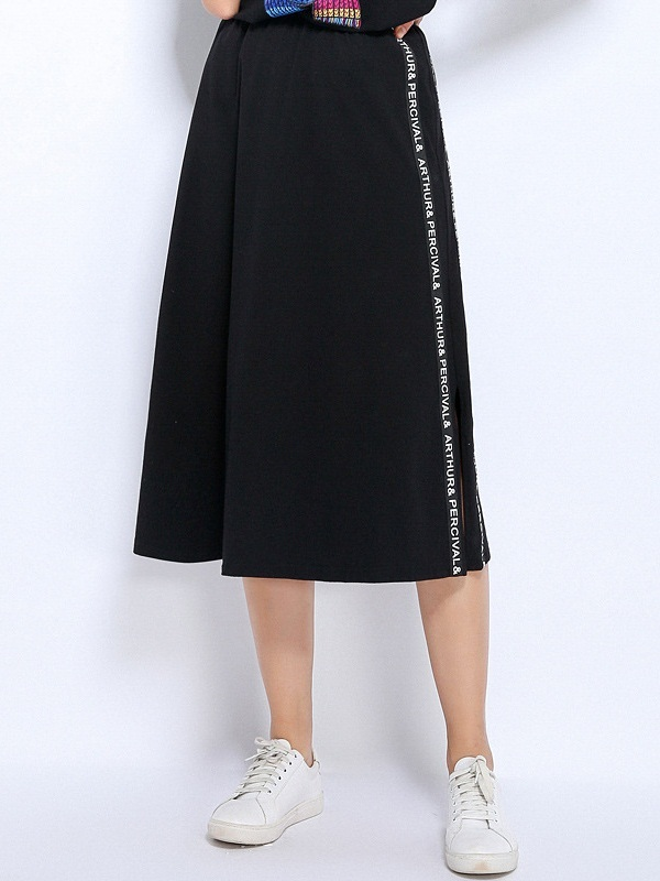 Niamh Words Midi Side Slit Skirt