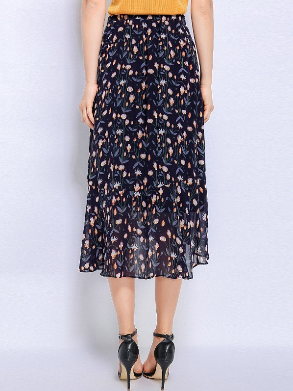 Nevis Floral Longer Back Skirt