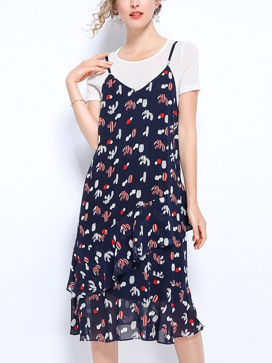 Tee and Elephant Camisole Dress Set