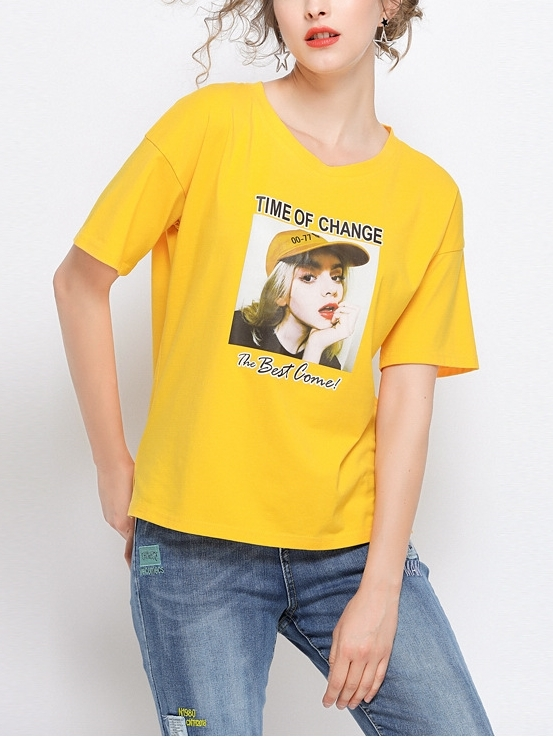 Lisa Yellow Girl Tee