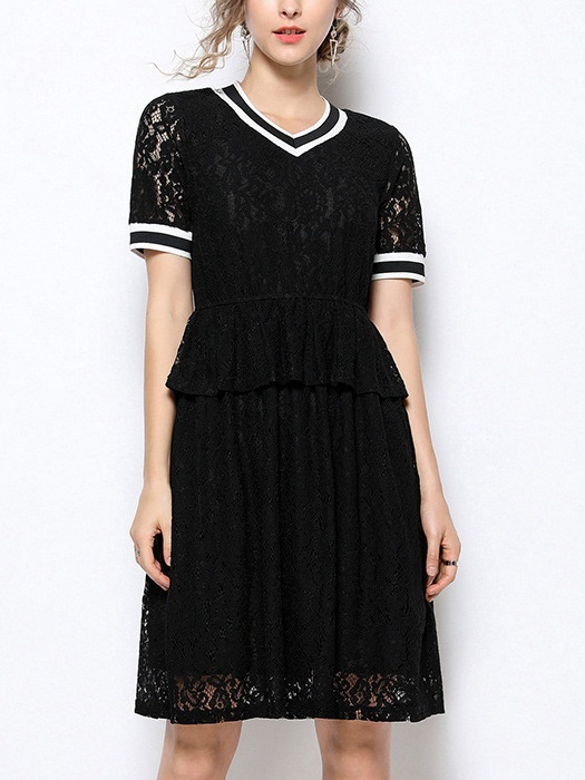 October Varsity Lace Tier Dress