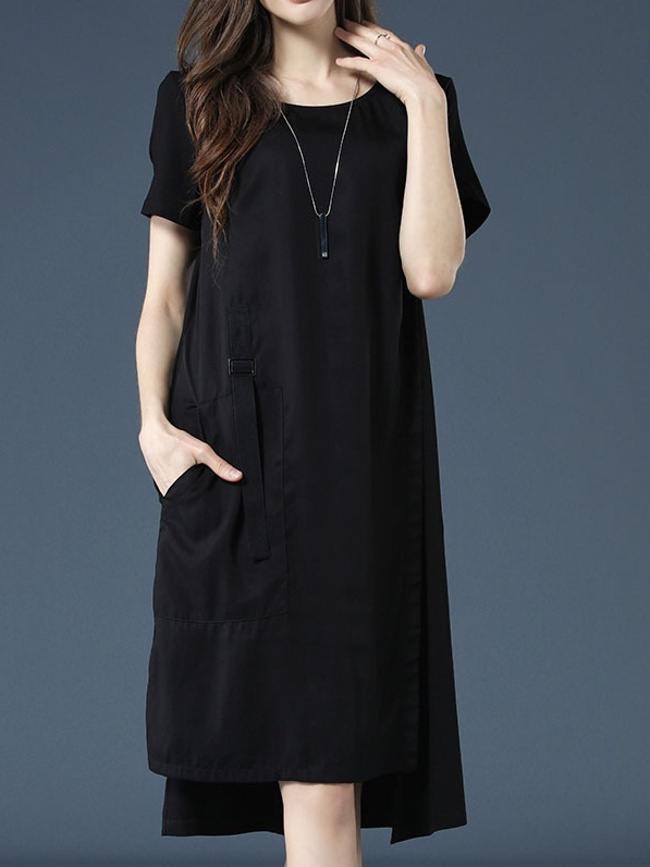 Odie Buckle Strap Side Panel Dress