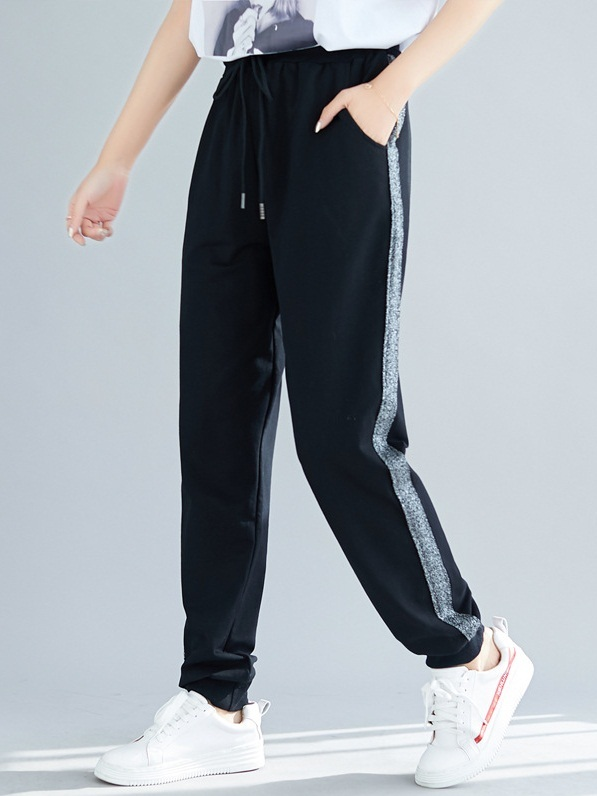 Otha Silver Shimmer Stripe Track Pants (EXTRA BIG SIZE)