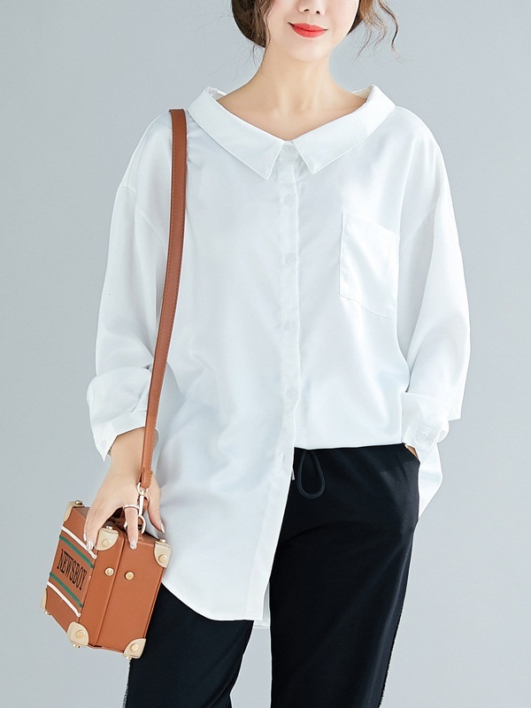 Oska Collared Shirt Blouse (EXTRA BIG SIZE)