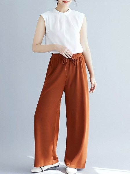 Orlean Wide Leg Pants (EXTRA BIG SIZE)