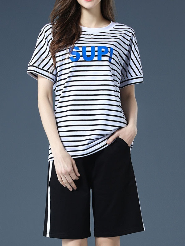 Ofilia SUP Stripe Top and Pants Set
