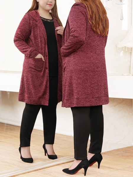 Noah Red Knit Hoody Tunic Jacket
