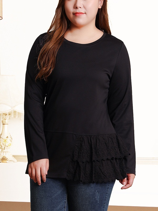 Niva Lace Frill Side L/S Top