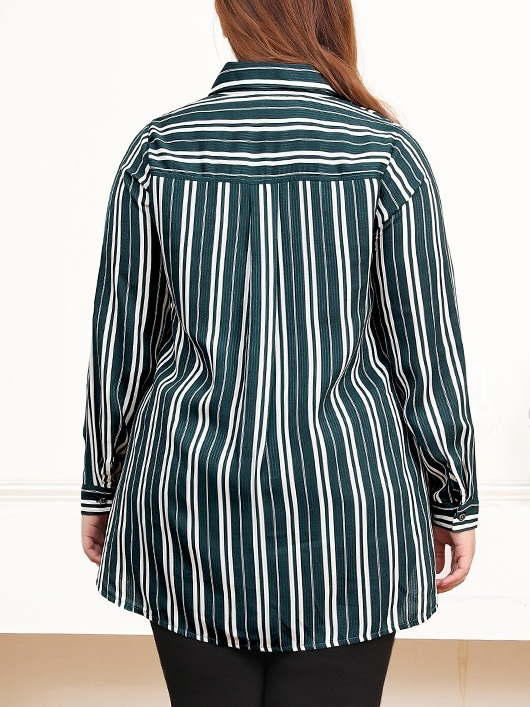 Nisha Stripe Shirt Blouse