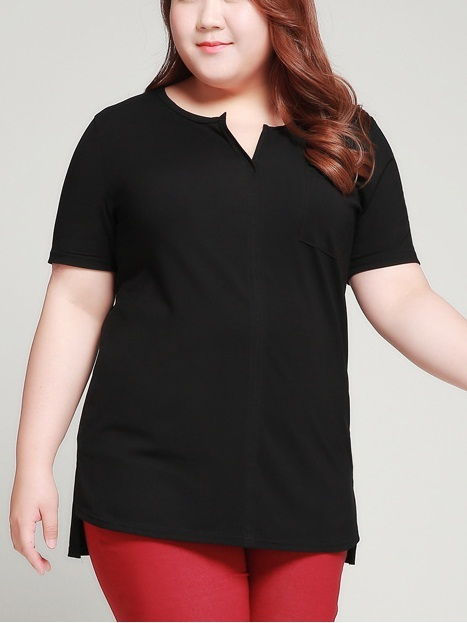 Nima Cotton V-Neck Pocket Tee