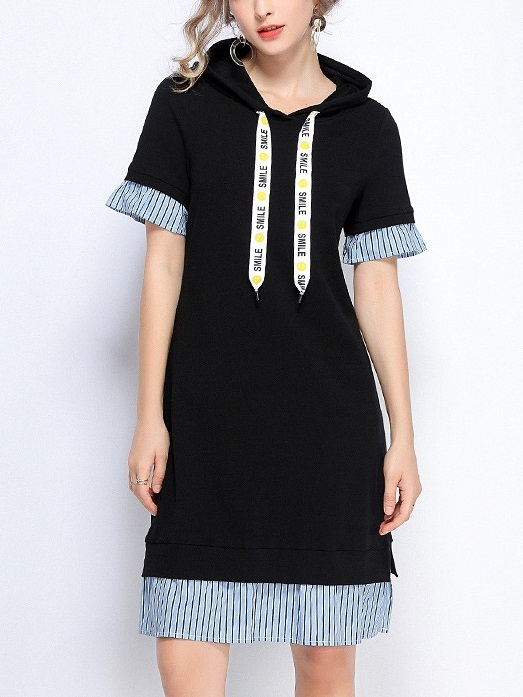 Pella Hoodie Stripe Layer Dress